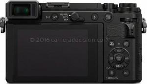 Panasonic GX9 back view and LCD