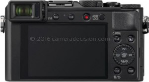 Panasonic LX100 II back view and LCD
