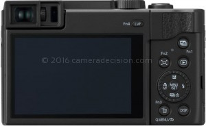 Panasonic ZS80 back view and LCD
