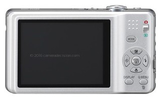 Panasonic FH20 back view and LCD