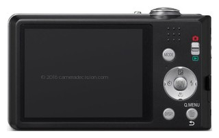 Panasonic FH5 back view and LCD
