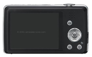 Panasonic FH6 back view and LCD