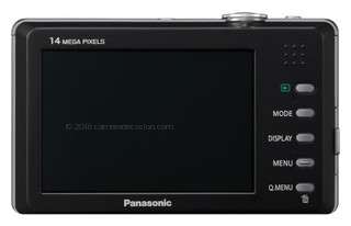 Panasonic FP3 back view and LCD