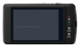 Panasonic FX700 back view and LCD