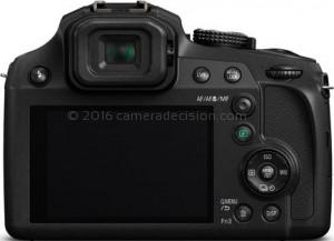 Panasonic FZ80 back view and LCD