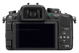 Panasonic G1 back view and LCD