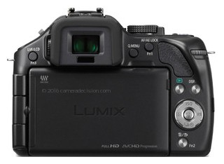 Panasonic G5 back view and LCD