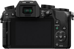 Panasonic G7 back view and LCD