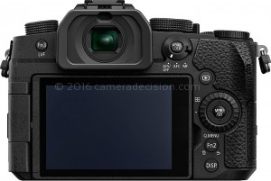 Panasonic G95 back view and LCD