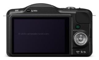 Panasonic GF3 back view and LCD