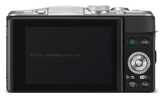 Panasonic GF6 back view and LCD