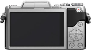 Panasonic GF7 back view and LCD