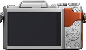 Panasonic GF8 back view and LCD