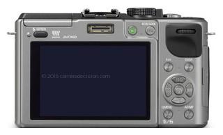 Panasonic GX1 back view and LCD