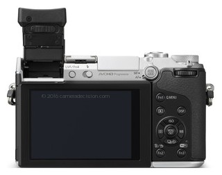 Panasonic GX7 back view and LCD