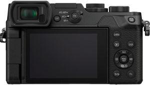 Panasonic GX8 back view and LCD
