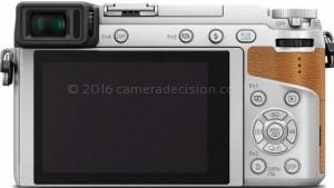 Panasonic GX85 back view and LCD