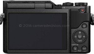 Panasonic GX850 back view and LCD