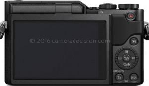 Panasonic GX850 back view and LCD