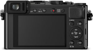 Panasonic LX100 back view and LCD