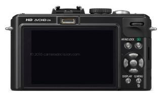 Panasonic LX5 back view and LCD