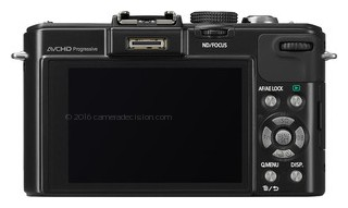 Panasonic LX7 back view and LCD