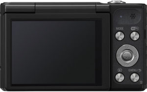 Panasonic SZ10  back view and LCD
