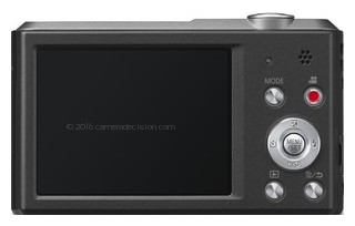 Panasonic SZ3 back view and LCD