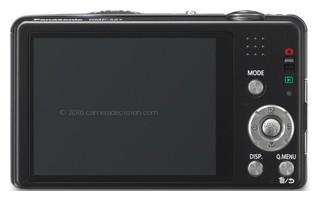 Panasonic SZ7 back view and LCD