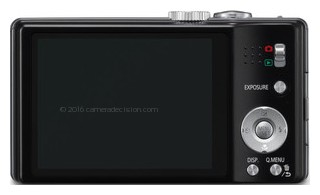 Panasonic SZ8 back view and LCD