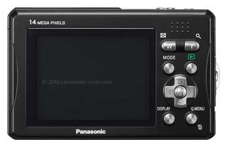 Panasonic TS10 back view and LCD