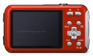 Panasonic TS25 back view and LCD
