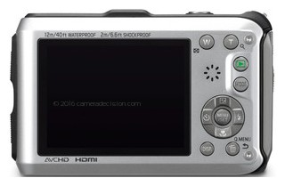 Panasonic TS3 back view and LCD