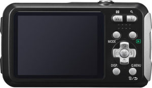 Panasonic TS30 back view and LCD