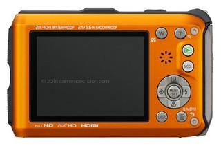 Panasonic TS4 back view and LCD