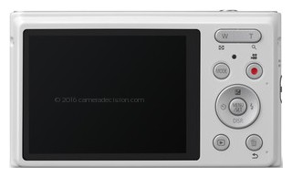 Panasonic XS1 back view and LCD