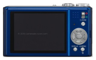 Panasonic ZR1 back view and LCD
