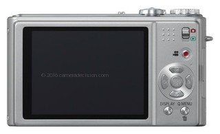 Panasonic ZR3 back view and LCD
