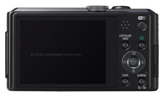 Panasonic ZS30 back view and LCD