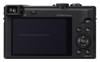Panasonic ZS40 back view and LCD