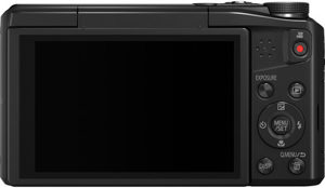 Panasonic ZS45 back view and LCD