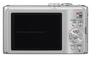 Panasonic ZS5 back view and LCD