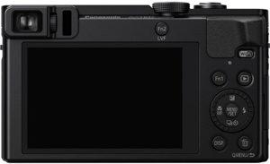 Panasonic ZS50 back view and LCD