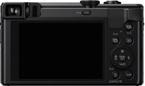 Panasonic ZS60 back view and LCD