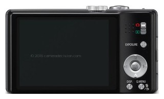 Panasonic ZS8 back view and LCD