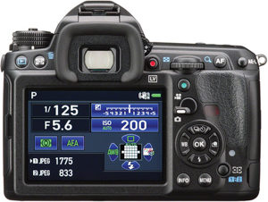 Pentax K-3 II back view and LCD