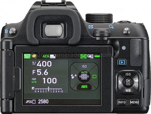 Pentax K-70 back view and LCD