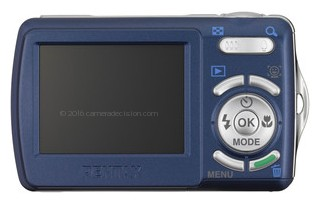 Pentax E70 back view and LCD