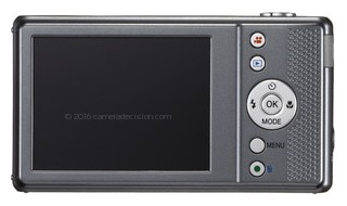Pentax VS20 back view and LCD