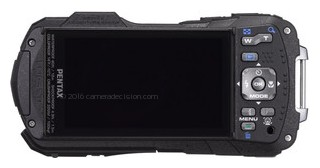 Pentax WG-2 GPS back view and LCD